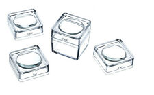 "1 Box + 4 Lids Snap On Magnifier Cube Set 1.5"" Dia Lens 2.5X 3.5X 4X 5X MB2346-5"