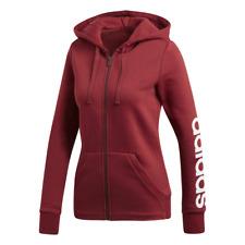 Adidas Women Hoodie Training Essentials Linear Full Zip Workout Running CZ5721