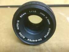 OLYMPUS OM-System Zuiko MC Auto-S 50mm f1.8 Lens - Good condition.