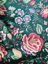 5.5 Yds Vintage JYD  Screen Print Floral Home Decor Fabric Sewing  54 Wd 2 pcs