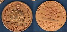 Médaille Ligue Française de l'enseignement UFOLEP Jeunesse Sportive