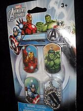 CHILDREN'S Marvel AVENGERS Assemble Dog Tags - Set of 3 PRETEND PLAY Superhero