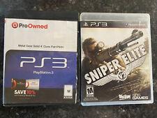 Sniper Elite V2 & Metal Gear Solid 4 PS3