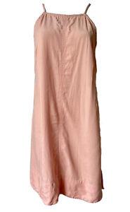 Rusty Size 10 Tencel Short Summer Dress Peach Orange Colour , Boho Beach