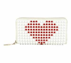 Authentic Christian Louboutin Panettone Valentines heart zippy Wallet