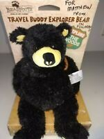 "Vintage Big Sky Carvers BEARFOOTS 12"" Travel Buddy Explorer Bear"