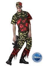 Costume Carnevale/Halloween Costume Zombi militare TG. M-L 14904