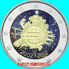 "PORTUGAL 2012  2 EUROS CC ""10 ANS € "" COULEUR/COLORISE/COLOR/ KLEUR/COLORIERT"