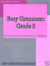 Easy Grammar : Grade 5 teacher Edition by Wanda C. Phillips (2006, Paperback)