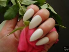 600 Full Cover White Stiletto Point False Nails S/M - Pink Candy