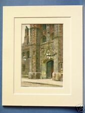 ST. JOHN'S COLLEGE CAMBRIDGE VINTAGE MOUNTED PRINT 10X8