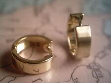 Singel Klappcreole eine Herrencreole Scharniercreole Gold 333 poliert 15 x 5 mm