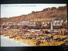 UK~I.O.W. SHANKLIN~ ESPLANADE~PIER~BATHING BEACH