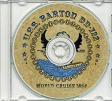 USS Barton DD 722 1954 World Cruise Book on CD RARE
