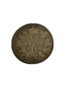 1890 Ten Cent Canada 10 Cents