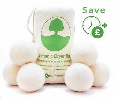 6 XL Organic Tumble Dryer Balls 100% New Zealand Wool Natures Fabric Softener