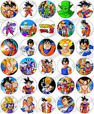 30 X Dragon Ball Z parte comestible de arroz Oblea papel Cupcake Toppers