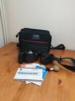 Minolta Dynax 3000i 35mm Camera With sigma 35-70mm Macro Lens