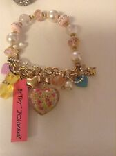 Betsey Johnson Candyland Candy Heart Sprinkles Gummy Bear bracelet NWT