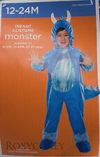 Halloween Infant Blue Monster Jumpsuit Costume Size 12-24 months NWT