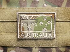 AUSTRALIA Subdued ISAF Military Tactical Hook Morale Patch AUSCAM Australian