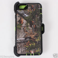 For iPhone 6/6s Green/Tree Camo Case Cover(Belt Clip Fits Otterbox Defender)