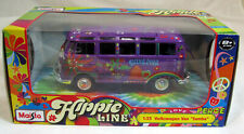 "Modell 1:24 Maisto  Volkswagen VW T1 Bus ""Hippie"" lila Flower Power"