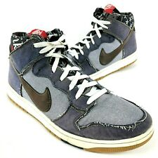 new products b0136 236f1 RARE Nike Dunk High CMFT Navy Blue Denim Track Gum Shoes Size 13 705434-401
