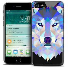 "Coque TPU Gel Pour iPhone 7 (4.7"") Polygon Animal Souple Fin Loup"