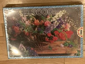 Educa 3000 Piece Puzzle Flowers in a Basket - NEW Sealed RARE