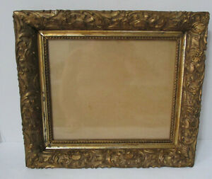 Antique 1870's Wood Picture Frame Gold Gilding