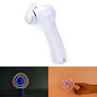 Portable Handheld Cooling Fan Colorful LED Mini Light Battery Power Brand Gy