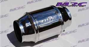 """MRC VENOM high flow stainless 2.5"""" 63.5mm 400 cell Cat Catalytic Converter"""