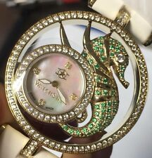 New Ladies Watchstar Diva Star Green Sea Horse Swiss Made 45mm Watch