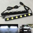 2pcs 6 LED Metal Hawkeye Car Daylight DRL Driving Fog Lamp Daytime Running Light