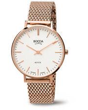 Boccia Armbanduhren aus Edelstahl mit 12-Stunden-Zifferblatt