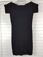 FRENCH CONNECTION sz 10 (or 6 us) womens black Bandage dress [#3389]