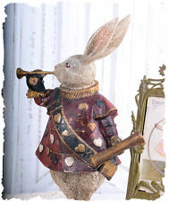 conte de fées figurine blanc lapin alice en pays des Merveilles Sculpture