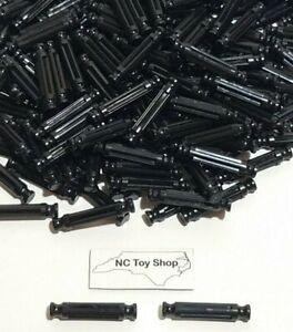 "200 NEW K'NEX Black Rods 1-5/16"" Bulk Standard Lot Replacement Small Parts KNEX"