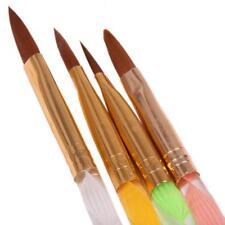 5Pcs Acrylic 3D Painting Drawing UV Gel DIY Brush Pen Tool Nail Art Set Hot - SS