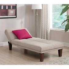 Indoor Chaise Lounge Chair Single Sleeper Sofa Beige