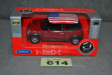 Welly NEX Mini Cooper 1300 1:34 Diecast Model Car In Red USA New In Box Boxed