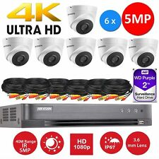 6 x Hikvision CCTV HD1080P 5MP Night Vision H.265+ DVR Home Security System 8CH1
