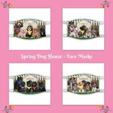 Spring Dog House Dogs Cats Photo Face Masks, Personalized Photo Face Masks