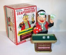 MINT 1950's BATTERY OPERATED CRAGSTAN CRAPSHOOTER TIN BAR BARTENDER CASINO TOY