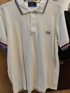 Fred Perry polo shirt, claret and blue tips, Burnley, aston villa, west ham