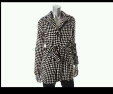 NEW JouJou Houndstooth Coat Size Small (2, 4, 6) Black White nwt Macys Jou Jou