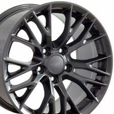 17x9.5/18x10.5 Gunmetal Corvette C7 Z06 Style Wheels Chevrolet Rims Staggered