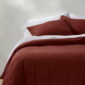 Casaluna Heavyweight Linen Blend Duvet & Pillow Sham Set - Queen - Clay