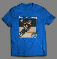 HOCKEY 1979 TOPPS OILERS WAYNE GRETZKY ROOKIE CARD MENS T-Shirt *MANY OPTIONS*